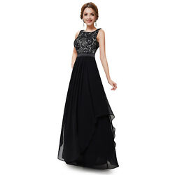 Long Evening Formal Gown Long Party Dress 08217 Ever-Pretty Black Size 14 $29.69