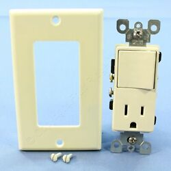 Leviton Almond Decora Combination Rocker Light Switch amp; Receptacle 15A 5678 A