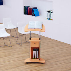 Adjustable Laptop Notebook Desk Table Workstation w Wheels Office Home Storage $94.99