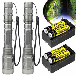 Tactical Police 350000Lumens T6 LED 5 Modes Flashlight Aluminum Zoom Torch $13.99