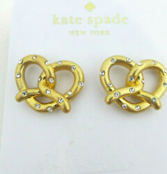 Kate Spade New York Gold Tone Pretzel Crystal & Goldplated Mini Stud Earrings