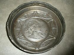 Vintage Aluminum Wall Hanging Lady Face 10quot; x 3quot; Unique Made in Germany $22.49