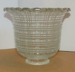 Vtg Clear Glass Floor Lamp Shade Wall Sconce Chandelier Shade Great Design 1 Pc $21.99