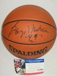 GEORGE MIKAN Lakers Signed Spalding Official GAME BASKETBALL w PSA COA $249.95