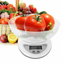 LCD Digital Kitchen Scale with Bowl 11LBS Electronic Weight Diet Food Balance