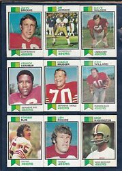 1973 TOPPS FOOTBALL SAN FRANCISCO 49ers LOT  17 CARDS with 2 HOFers JOHN BRODIE