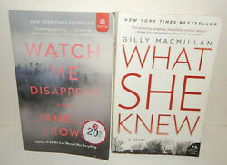 Lot of Paperback Books Thriller Suspense What She Knew MacMillan Disappear Brown