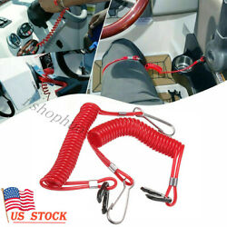 2 Pcs Boat Kill Engine Stop Switch Safety Lanyard Clip For Yamaha Outboard Motor $6.99