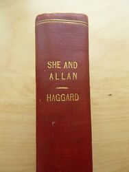 1st ed She and Allan by H Rider Haggard (hardcover 1921)