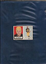 HALL OF FAME ROOKIE CARD 1957 TOPPS FOOTBALL #15 JACK BUTLER Steelers  AUTHENTIC