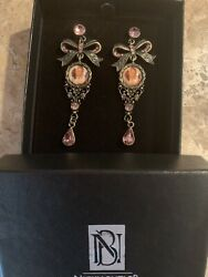 Signed Nicky Butler Made In France Earrings Unique W Box Bow Victorian Picture