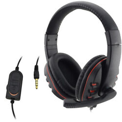 New Gaming Headset Stereo Gaming For xBox One S X PS4 Headphones With Chat $11.99