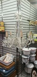 Waterford style Crystal 5 Arm Chandelier cut crystal glass lots of real crystals $399.99