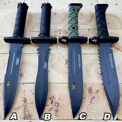 13.5quot; Military Tactical Bayonet Hunting Fixed Blade Survival Rambo Bowie Knife $15.95