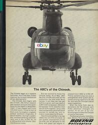BOEING HELICOPTERS FOR US AIR FORCE THE ABC#x27;S OF THE CHINOOK CH 47A 1967 AD $5.99