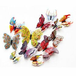 12 Pcs 3D Butterfly Wall Stickers PVC Children Room Decal Home Decoration Decor $5.45