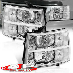 Chrome Clear Replacement Headlights Lamps For 07-13 Chevy Silverado 1500 2500HD $144.99