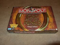 Lord of The Rings Trilogy Edition Monopoly Board Game - Complete - Never Played