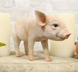 Adorable Realistic Animal Farm Babe Piglet Pig Statue 8quot;L Rustic Country Pigs $29.99
