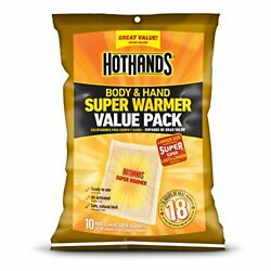 HotHands Body & Hand Super Warmers - Long Lasting Safe Natural Odorless 10 Count