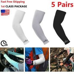 5 Pairs Cooling Arm Sleeves Outdoor Sport Basketball UV Sun Protection Arm Cover $9.49