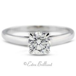 1.08ct EVS1V.Good Round AGI Certify Diamond 14kw Basket Single Stone Ring 2.4g