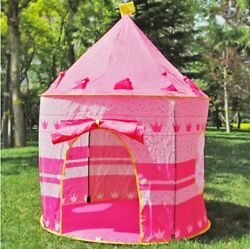 Portable Foldable Princess Castle Kids Pop Up Play Tent Girl Play House BestGift