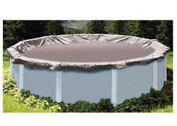 Winter Pool Cover Round Silver Above Ground Super Deluxe Heavy-Duty