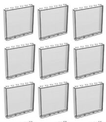 ☀LEGO 9x New Trans Clear Transparent Wall Elements 1x6x5 Trans-Clear Window