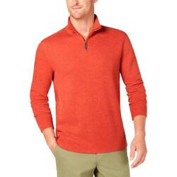 Club Room Mens 14 Zip Pullover Casual Sweater Top BHFO 2690