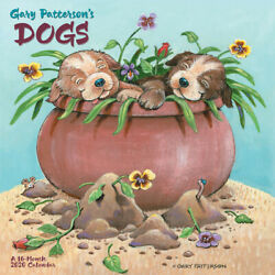 GARY PATTERSON'S DOGS 2020 WALL CALENDAR 12x1216 month