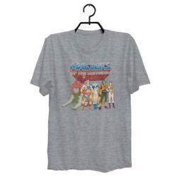 MASTERS OF THE UNIVERSE HE-MAN SKELETOR SHE-RA ADULT GRAY SHIRT SIZE S-3XL