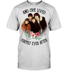 SHE LIVED HAPPILY EVER AFTER THE BEATLES FOR FANS SHIRT USA SIZE S-3XL
