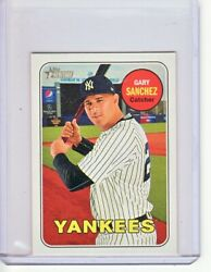 2018 GARY SANCHEZ TOPPS HERITAGE MINI PARALLEL 061100