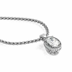 Diana Rafael 2.25 Carat Diamond Double Halo Fashion Pendants 14K White Gold