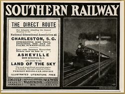 1900 f Southern Railway Direct Route Night Train National Educational Assoc Ad $12.99