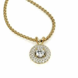 Diana Rafael 3.5 Carat Diamond 2-Row Halo Fashion Pendants 14K Yellow Gold