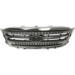 Grille Chrome Shell and Gray Insert For 2010-2012 For Ford Taurus Limited SE SEL $231.64