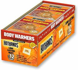HotHands Body Warmers With Adhesive Long Lasting Safe Natural Odorless