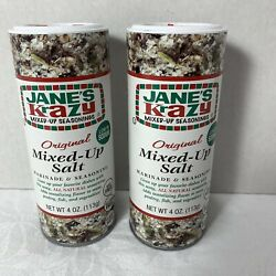 Janes Krazy Mixed-Up Original Salt Blend 4 oz Marinade Seasoning Pack of 2