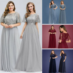 Ever-Pretty US Sequins Long Bridesmaid Dress Formal Wedding Ball Gowns Plus Size $29.69