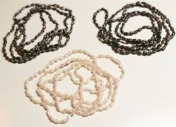 Vintage In Seattle Lot#494 gorgeous cream & iridescent water pearl strands