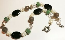 Vintage In Seattle Lot#495  gorgeous pearls & gemstones necklace
