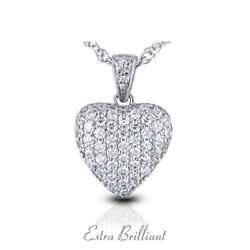 5.94 Carat E VS2 Round Cut Natural Certified Diamonds 18k White Gold Pendant