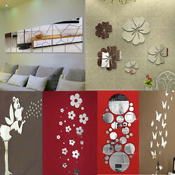 Removable Mirror Decal Art Mural Wall Stickers Home Decor DIY Room Decoration $1.13