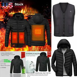 Heated Vest Electric Jacket USB Thermal Warm Heat Pad Winter Body Warmer Unisex