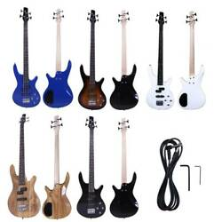 New 5 Colors 4 Strings Right Handed IB Electric Bass Guitar with Tool