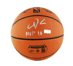 Giannis Antetokounmpo Signed Bucks Spalding Game Replica Basketball quot;MVP 18quot; $449.99