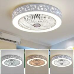Ceiling Fan With Light Remote Control LED Ceiling Lamp Dimmable Bedroom Office $157.62