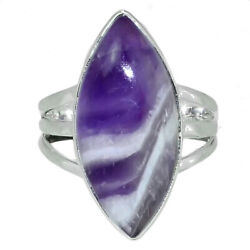 Chevron Amethyst Lace 925 Sterling Silver Ring Jewelry s.8 AR129222
